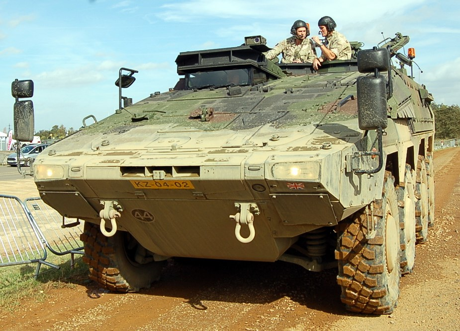 Iron Fists APS for Australian Boxer Combat Reconnaissance Vehicles