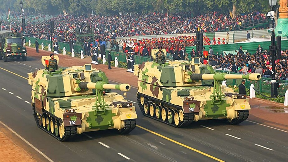 M777A2 howitzers K 9 Vajra SPH displayed for first time at Indian Republic Day Parade