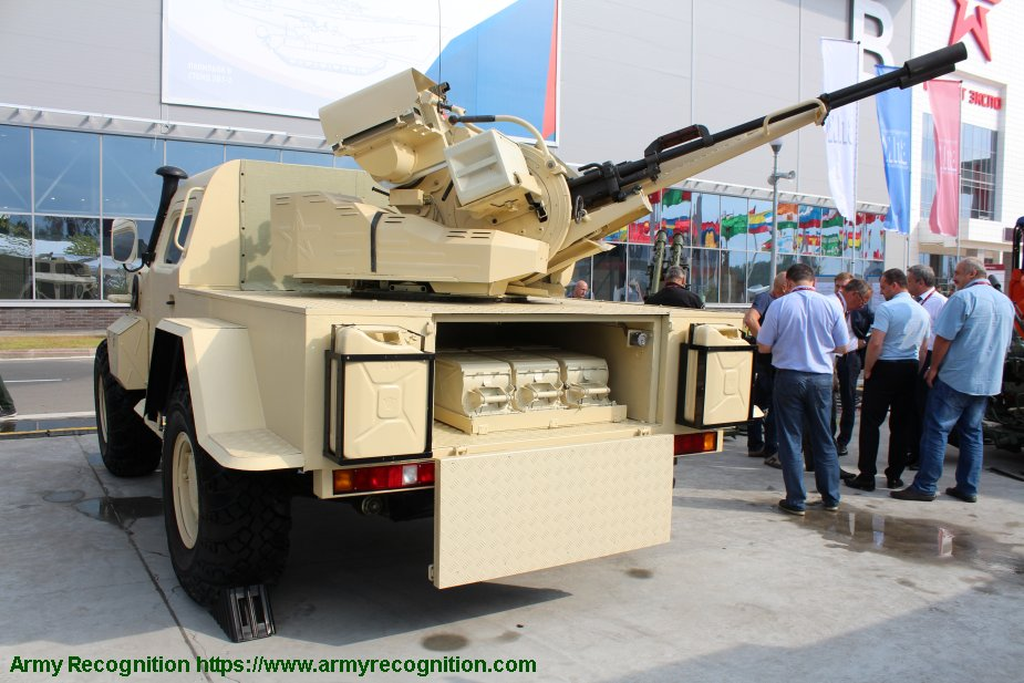 PEMZ from Russia first export contract for Samum 23mm anti aircraft vehicle 925 002