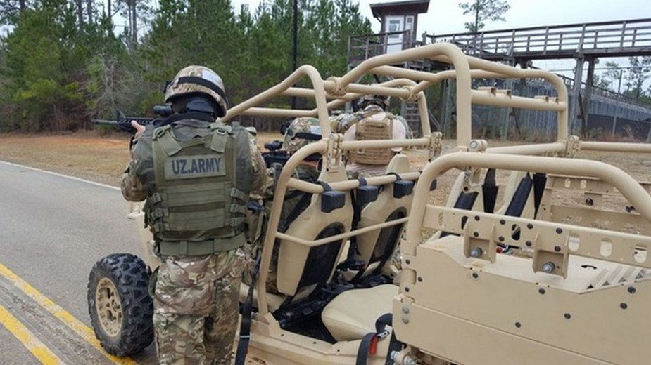 Uzbek special forces train in U.S