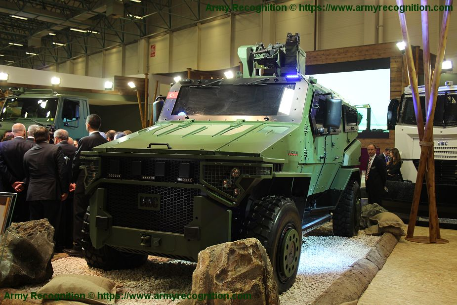 BMC Vuran 4x4 armored vehicle entered in service with