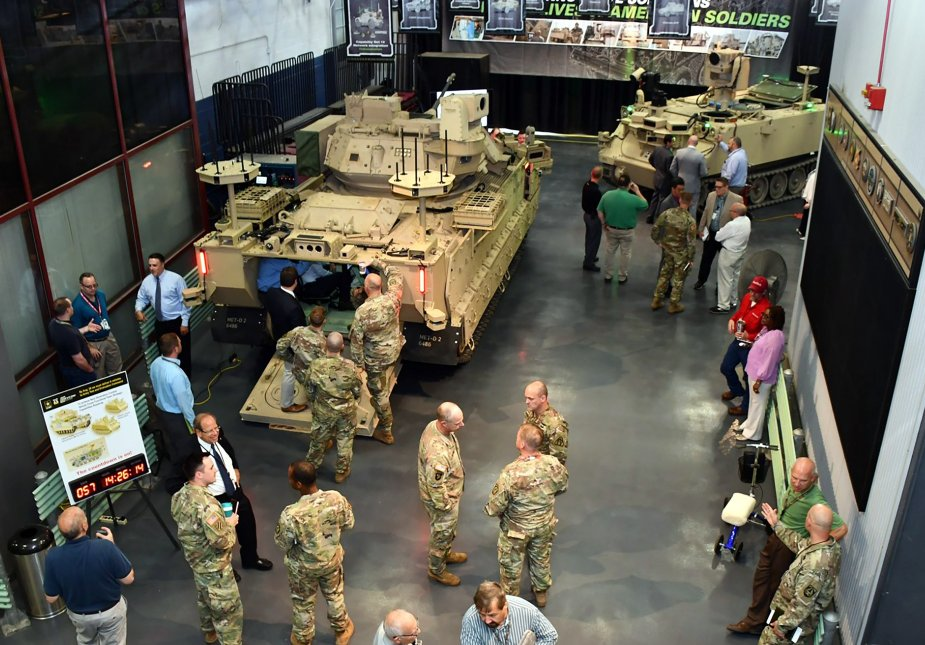 U.S. soldiers to operate armed robotic vehicles from upgraded Bradley IFVs