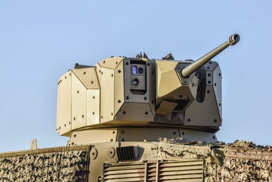 Denel Vehicle Systems discussing RCG30 vehicle mounted turret with UAE
