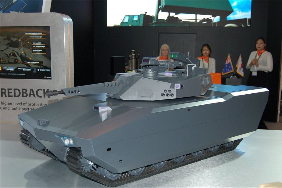 EOS T 2000 and Hanwha Redback IFV for Land 400 Phase 3 Australia 925 002