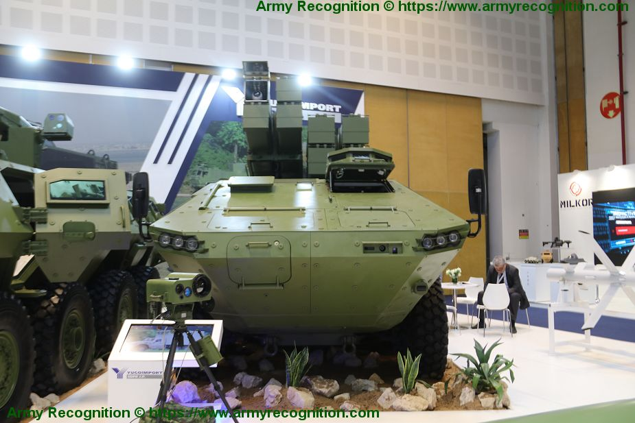 Lazar RALAS 8x8 anti tank missile carrier armored vehicle Yugoimport IDEX 2019 925 001