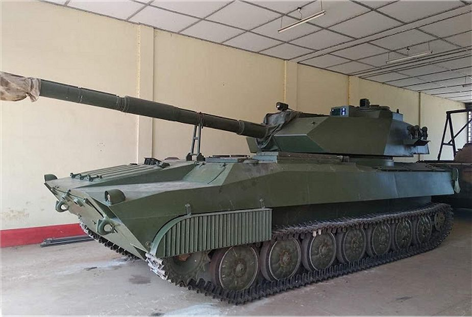 Myanmar army has developed new 105mm light tank based on 2S1 chassis 925 001