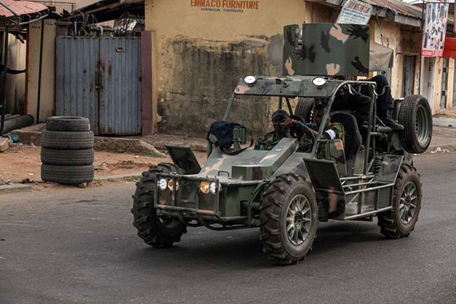 Nigeria Local made light patrol all terrain vehicle used by the Army 925 001