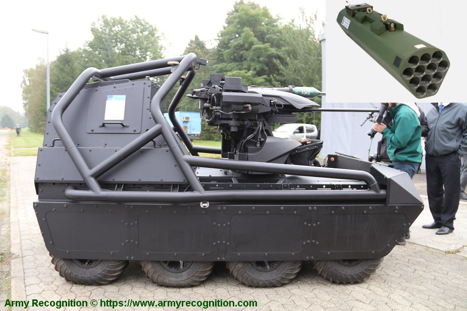 Rheinmetall unveils its Mission Master UGV armed with Thales 70mm rocket launchers 925 003