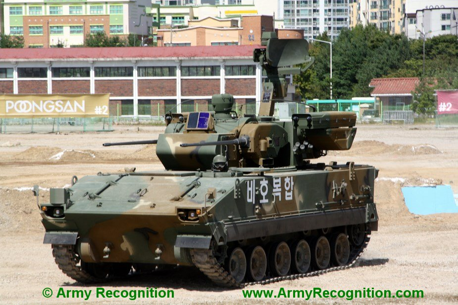 Hanwha K 30 Biho ROK Mobile Air Defense system for Indian Army
