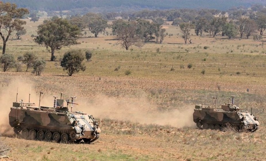 BAE Systems Australia and Australian Army display autonomous M113s