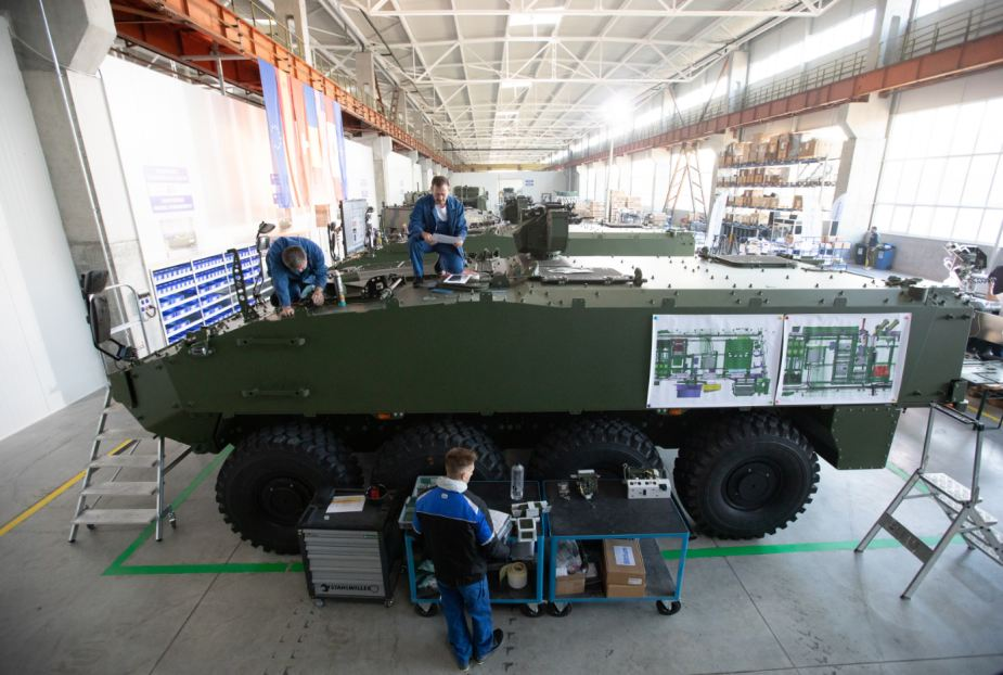 General Dynamics has started production of Piranha 5 8x8 armored vehicles in Romania 925 001