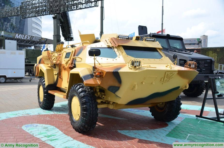 Belarus Cayman 4x4 armored reconnaissance vehicle used 1st time during exercise