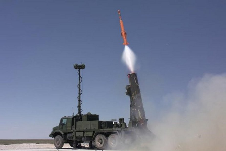 Turkish Hisar A low altitude air defense missile system completes tests