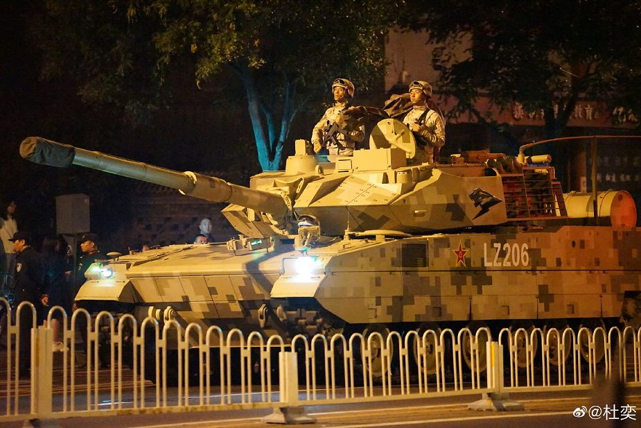 New light tank Type 15 at rehearsal of Chinese military parade 925 001