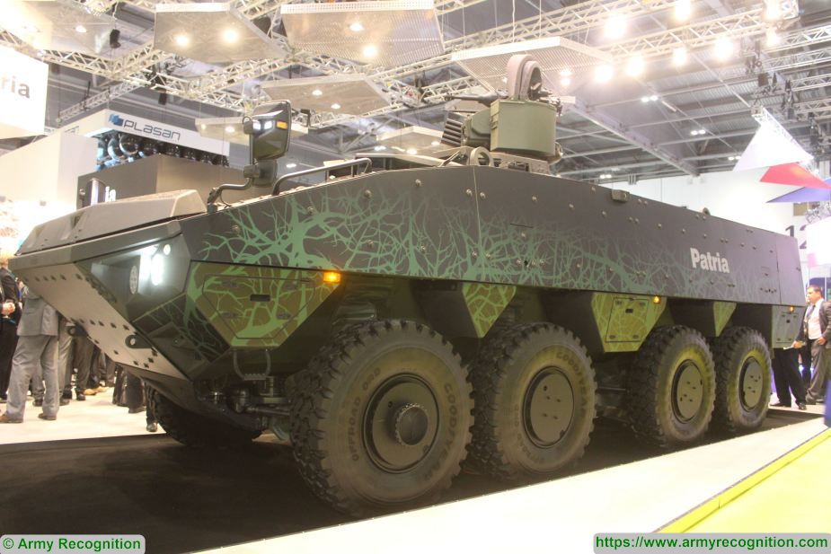 Patria armored modular vehicle AMVXP to be tested in Japan