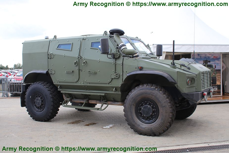 Slovak Zetor Gerlach 4x4 armored will be fitted with armor protection of Rheinmetall 925 001