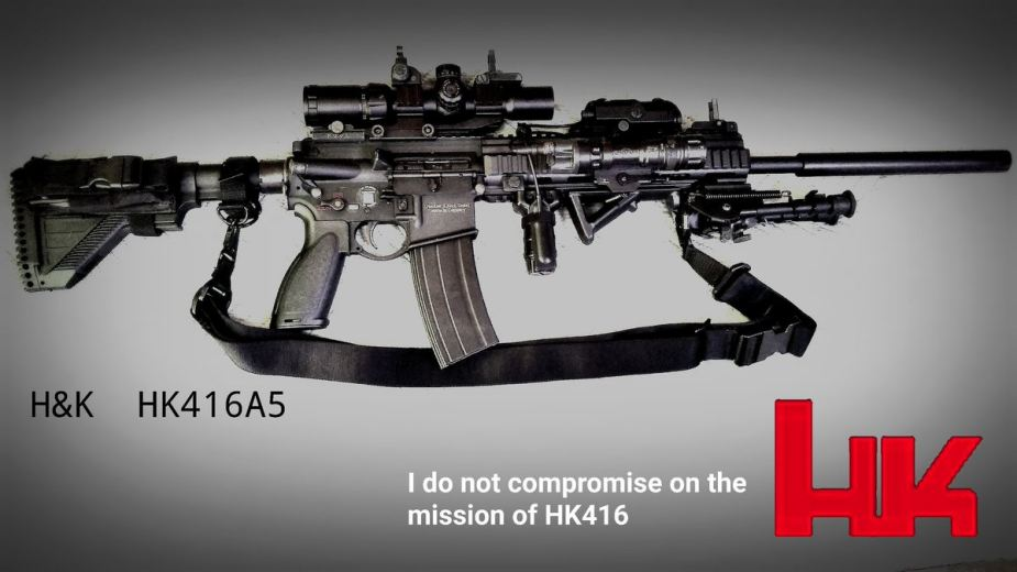 HK416A5 Heckler and Koch most modern assault rifle Germany German firearams defense industry 925 001