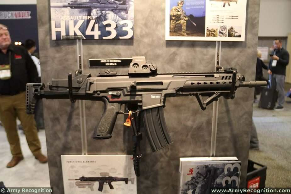 HK433 Heckler and Koch most modern assault rifle Germany German firearams defense industry 925 001