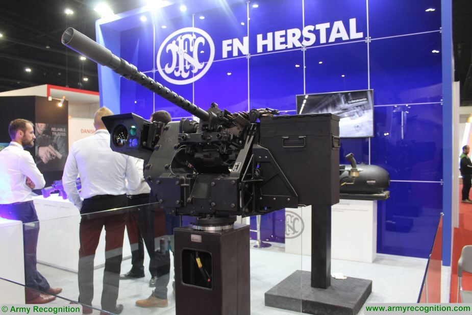 FN Herstal deFNder remote weapon station showcased during IAV in UK