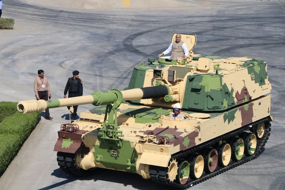 India has manufactured first local made K9 Vajra 155 mm tracked self propelled howitzer 925 001