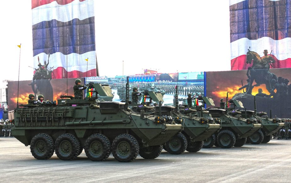 Military parade for Royal Thailand Army Day 1 Battlefield Defense