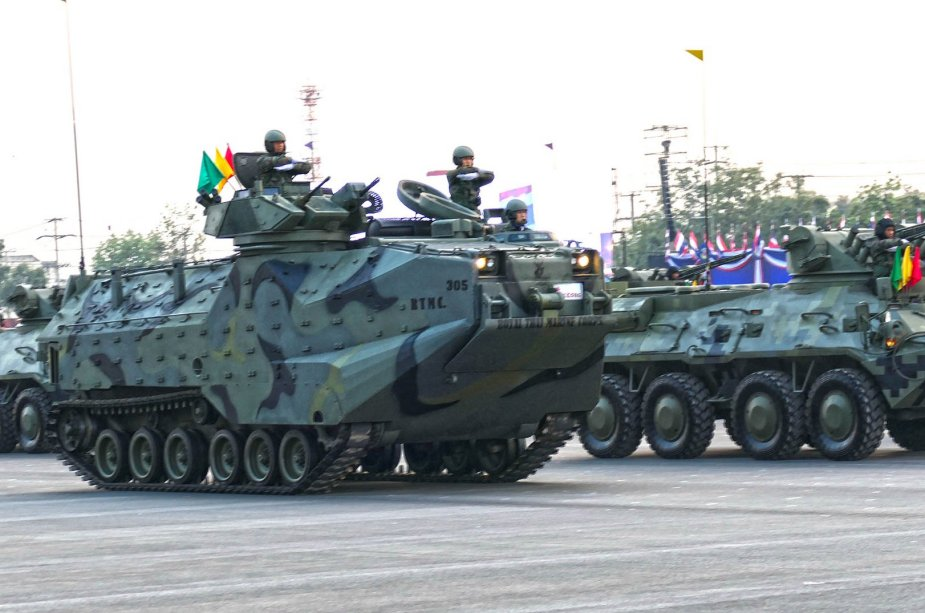 Military parade for Royal Thailand Army Day 8 Battlefield Defense