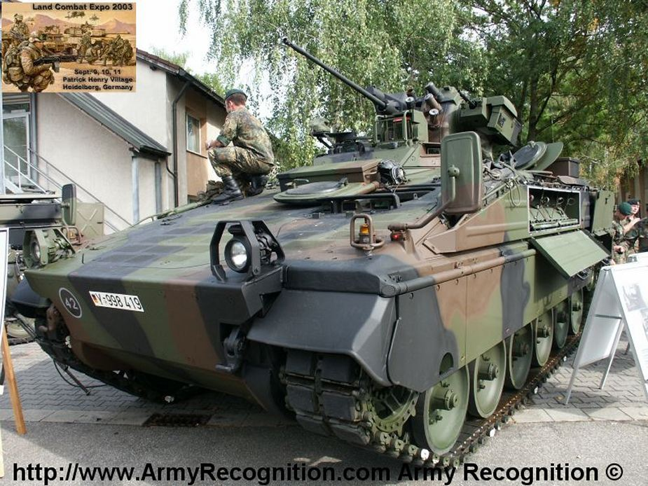 Rheinmetall to extend service life of German Marder 1A5 infantry fighting vehicles