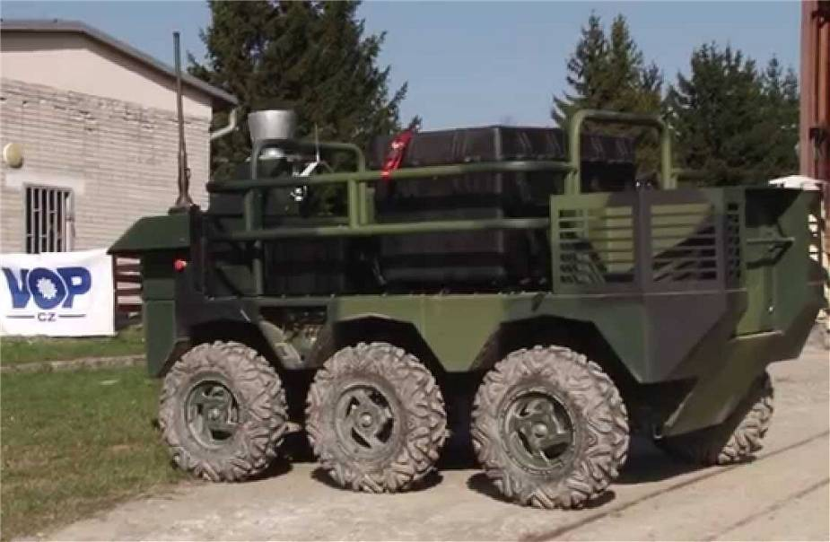 Czech army takes delivery of new UGV Pz unmanned ground vehicle to conduct trial tests 925 002