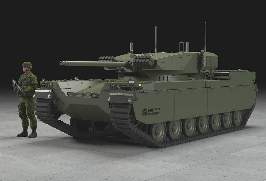 Milrem Robotics unveils its new Type X unmanned tracked IFV Infantry Fighting Vehicle 925 012