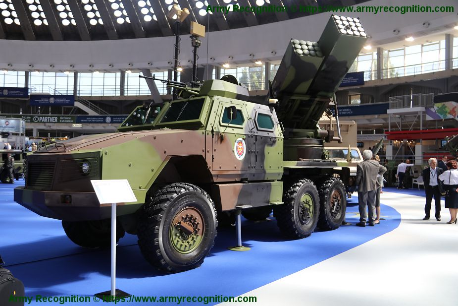 Serbia has performed firing test with new modernized Oganj 122mm MLRS rocket launcher 925 002