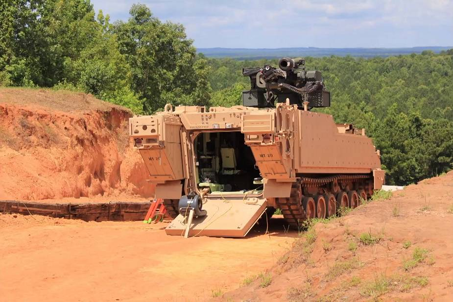 EOS demonstrates its R800 Remote Weapon Station mounted on AMPV Armored Multi Purpose Vehicle 925 002