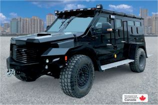 BlackWolf Cambli 4x4 armored truck tactical APC SWAT vehicle Canada Canadian defense industry left side view 001