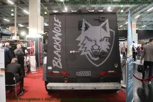 BlackWolf Cambli 4x4 armored truck tactical APC SWAT vehicle Canada Canadian defense industry rear side view 001