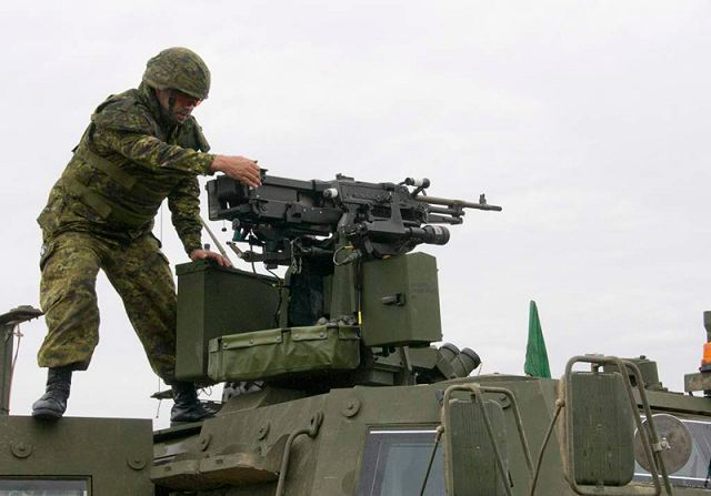 The Canadian soldiers at Valcartier are also testing the TAPV's remote weapons system and observation capabilities