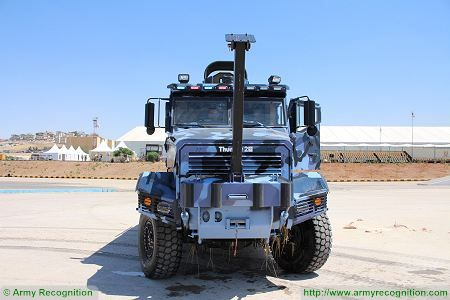 Thunder 2 4x4 tactical armoured truck personnel carrier police security vehicle Cambli Canada front view 002