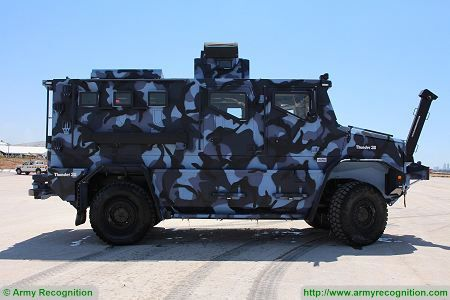 Thunder 2 4x4 tactical armoured truck personnel carrier police security vehicle Cambli Canada right side view 002