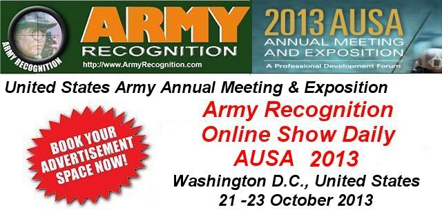 Your advertising in the online daily news AUSA 2013 Army Recognition for request Click here