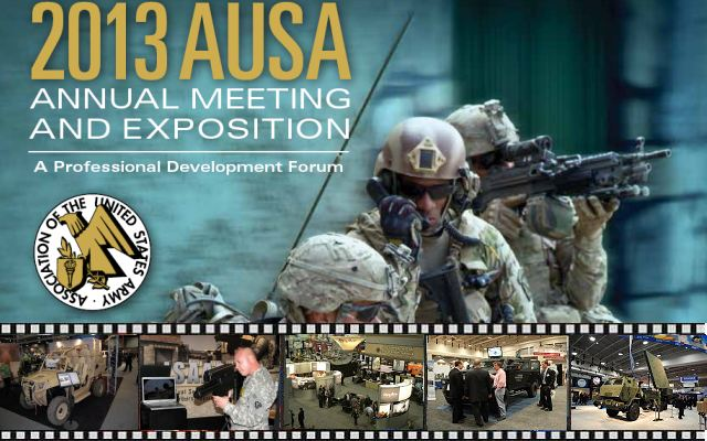 AUSA 2013 pictures video photos images United States Army Annual Meeting Exposition news pictures photo video American defence exhibition exhibitors visitors Washington DC
