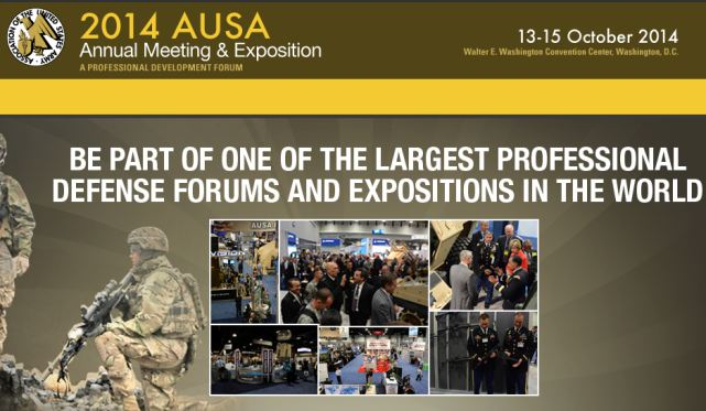 AUSA 2014 pictures video photos images United States Army Annual Meeting Exposition Defense Exhibition United States American defence exhibition exhibitors visitors Washington DC