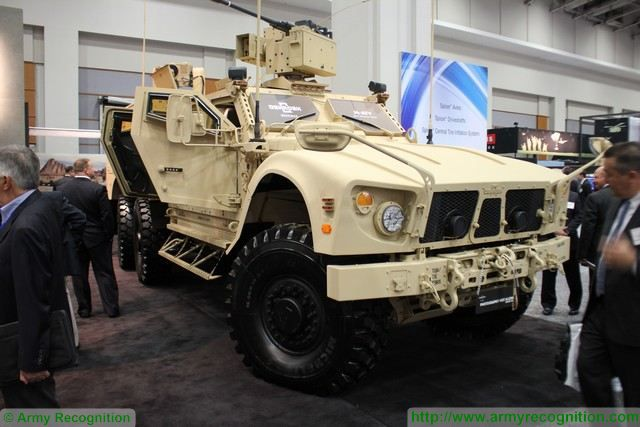 Oshkosh Defense LLC, an Oshkosh Corporation Company unveils the Oshkosh(R) MRAP All-Terrain Vehicle (M-ATV) 6x6 Technology Demonstrator, at AUSA in Washington, D.C. October 12 14, 2015.