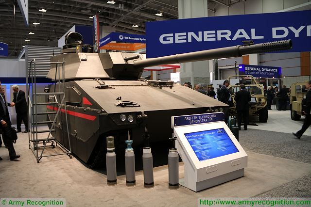 Griffin technology demonstrator light tank Mobile Protected Firepower US army General Dynamics 640 001