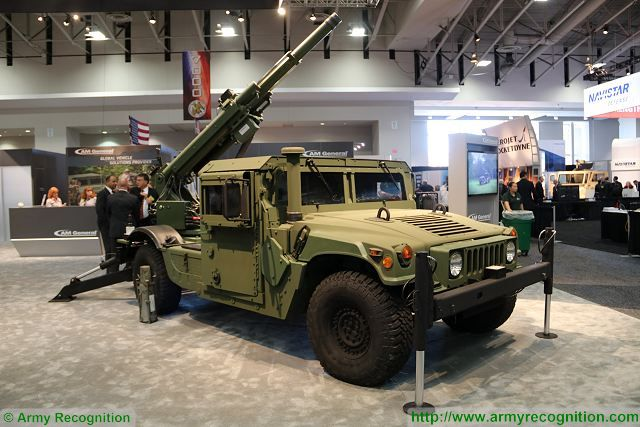 The American Company AM General unveils new light 105mm self-propelled howitzer called HMMWV/Hawkeye at AUSA 2016, the Association of United States Army Exhibition and Conference which takes place in Washington D.C. from the 3 to 5 October 2016.