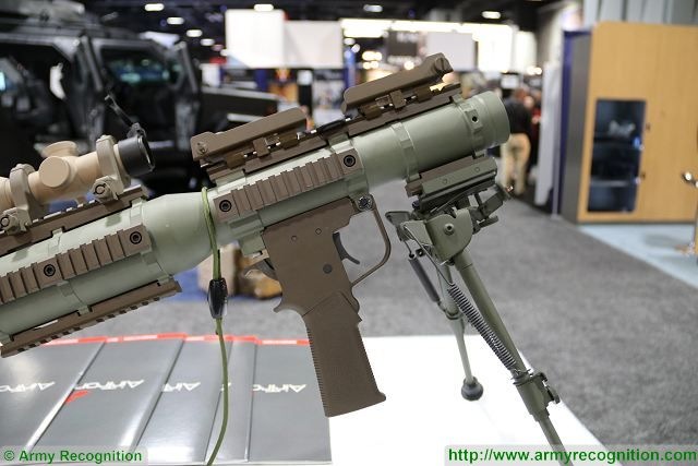 The American Company AirTronic presents a new solution of RPG (Rocket-Propelled Grenade) based on the original Soviet-made RPG-7 but with a new American design and completely manufactured in United States under the name of PSRL-1 (Precision Shoulder-Fired Rocket Launcher).