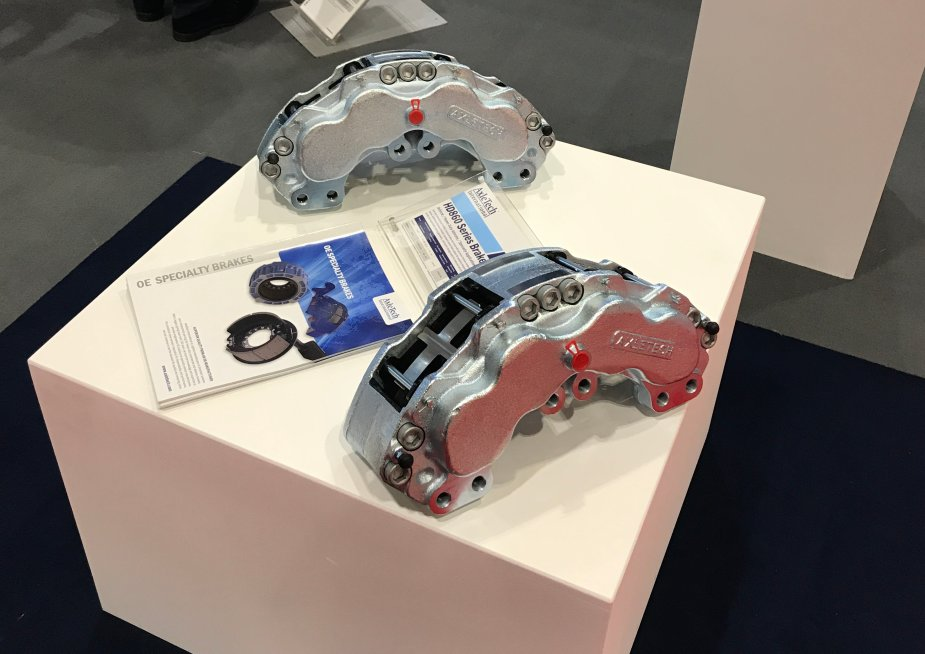 AUSA 2017 Alcon Components promotes its new CIR55 armoured vehicle brake caliper 925 001