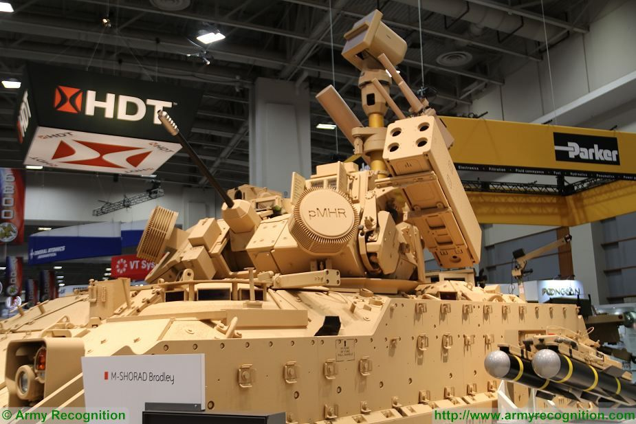 BAE Systems presents Bradley M SHORAD mobile air defense vehicle at AUSA 2017 925 002