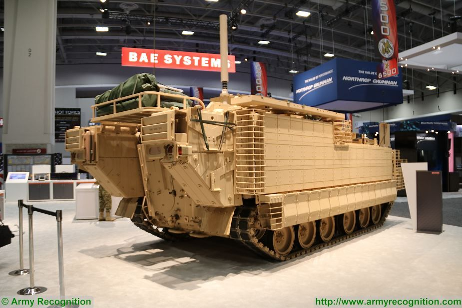First production vehicle BAE Systems General Purpose of AMPV Armored Multi Purpose Vehicle family at AUSA 2017 925 002