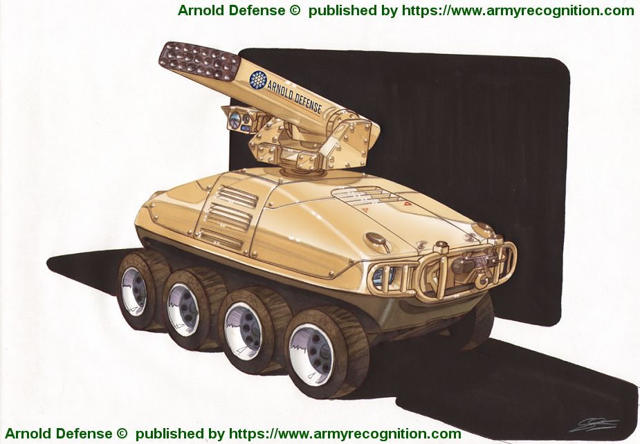 Arnold Defense FLETCHER 70mm laser guided rocket system at AUSA 2018 United States Army defense exhibition 925 001