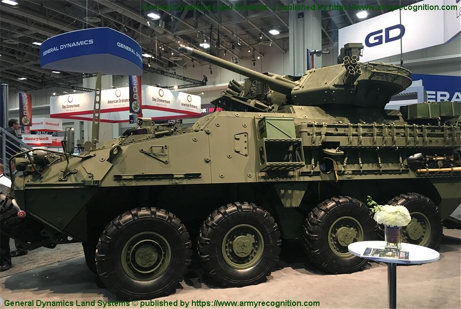 Stryker A1 30mm new upgraded version in Stryker 8x8 armored family AUSA 2018 United States Army defense exhibition 925 001