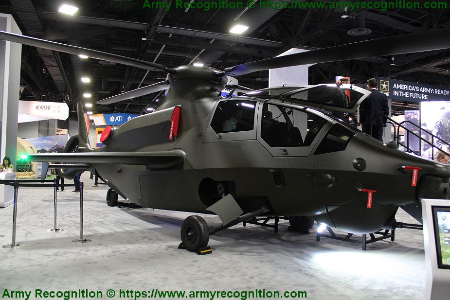 Bell unveils full size mockup of Invictus 360 future reconnaissance attack helicopter AUSA 201 925 001