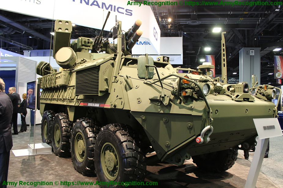 General Dynamics unveils Stryker A1 IM SHORAD air defense armored vehicle 925 001